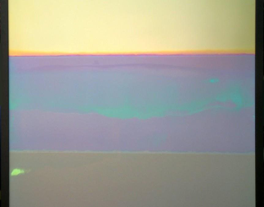 A line of titanium art 'paintings'